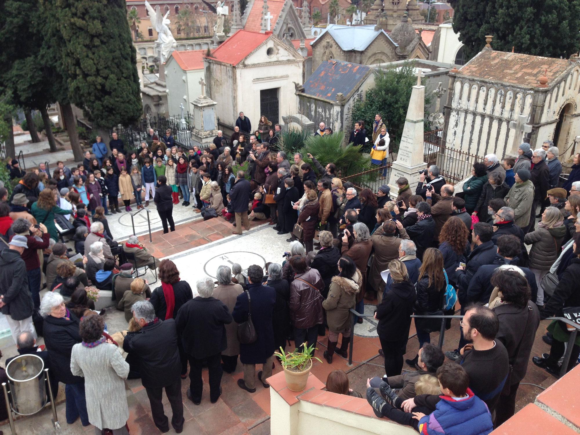 "Acto del ""Amatller Florit""- Cementerio de Sant Gervasi"