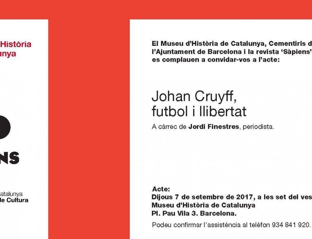 """Conferència """"Johan Cruyff, futbol i llibertat"""""""