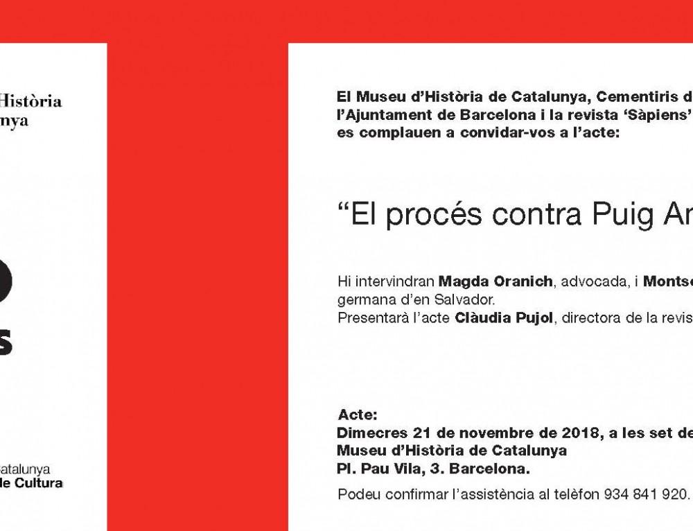 """Ciclo de conferencias de Cementiris de Barcelona: El proceso contra Puig Antinch"""""""