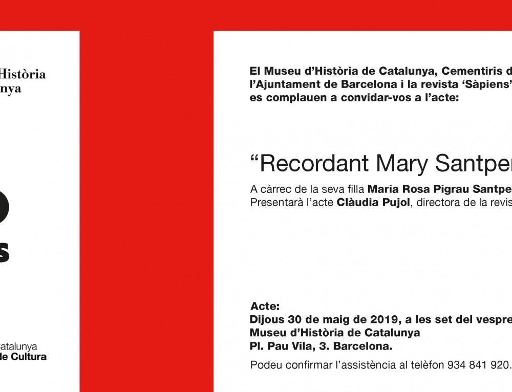 Conferencia Mary Santpere