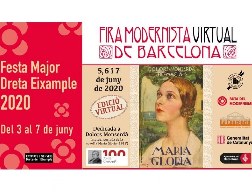 Cementiris de Barcelona colabora en la edición virtual de la Feria Modernista.